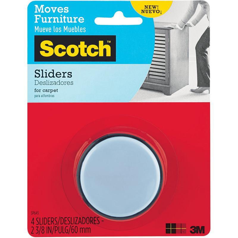 "Scotch Self-Stick Sliders, 2.375"", 4pk"