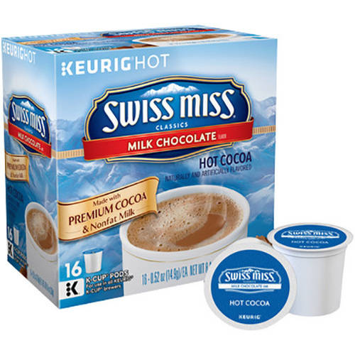 Keurig Swiss Miss Milk Chocolate Hot Cocoa K-Cups, 16 count