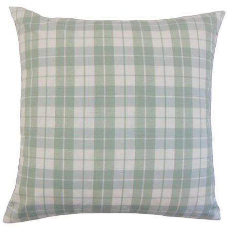The Pillow Collection Joss Plaid 18 Inch Down And Feather Filled Throw Pillows