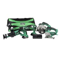 Hitachi KC18DG6LPA 6-Tool 18V Cordless Combo Kit