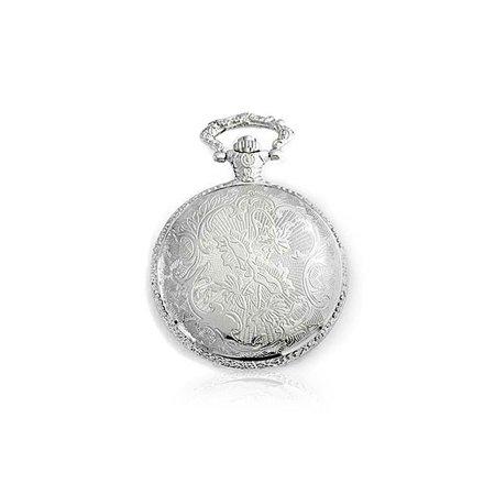 Master Masonic Quartz Mens Pocket Watch Freemason Two Tone Silver Plating Gold Plating With Chain - image 2 de 4