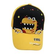 nomeni (52-54CM)Baby Boy Hat Letter Soft Cotton Dinosaur Sunhat Eaves Baseball Cap Sun Hat