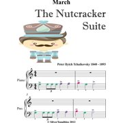 March the Nutcracker Suite Beginner Piano Sheet Music with Colored Notes - eBook