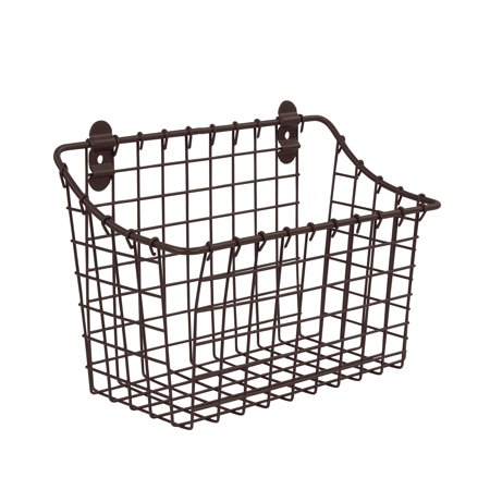 Basket Server - Spectrum Diversified Large Vintage Cabinet & Wall Mount Basket, Bronze, 86124