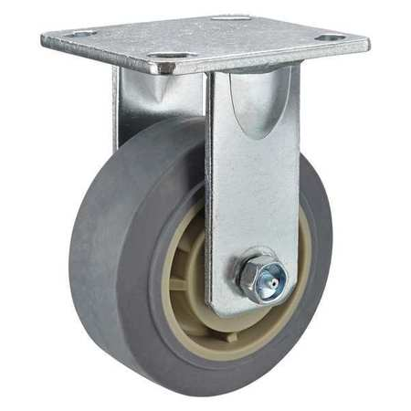 GRAINGER APPROVED Kingpinless Rgd Caster,TPR,6 in.,600 lb., P21R-RP060R-14