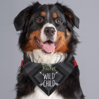 Wild Child Personalized Dog Bandana