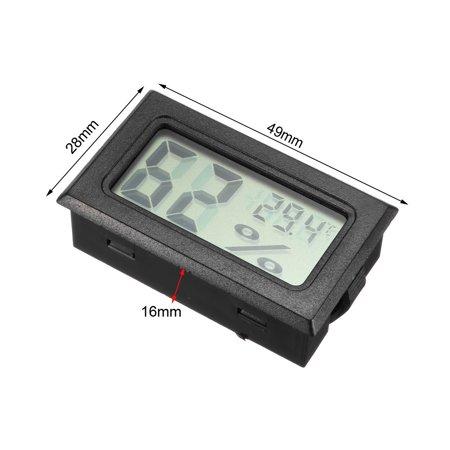 Black Digital Temperature Humidity Meters Gauge Thermometer Hygrometer 5pcs - image 1 of 3