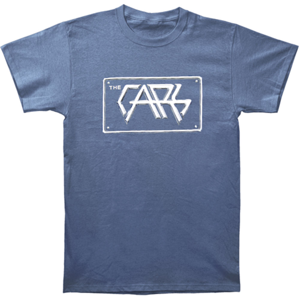 Cars Men's  Vintage Plate Logo Vintage T-shirt Blue