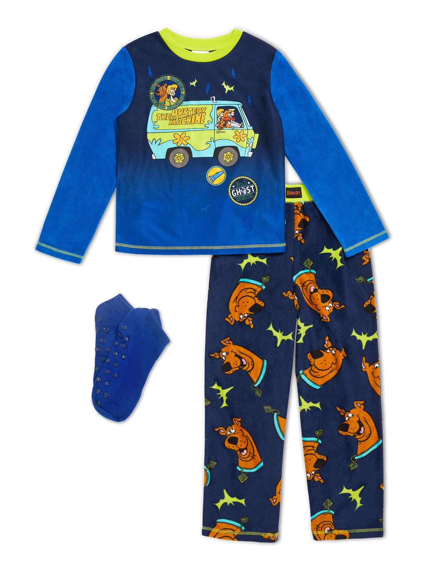 2T Scooby Doo Little Boys Blue Striped Pajamas