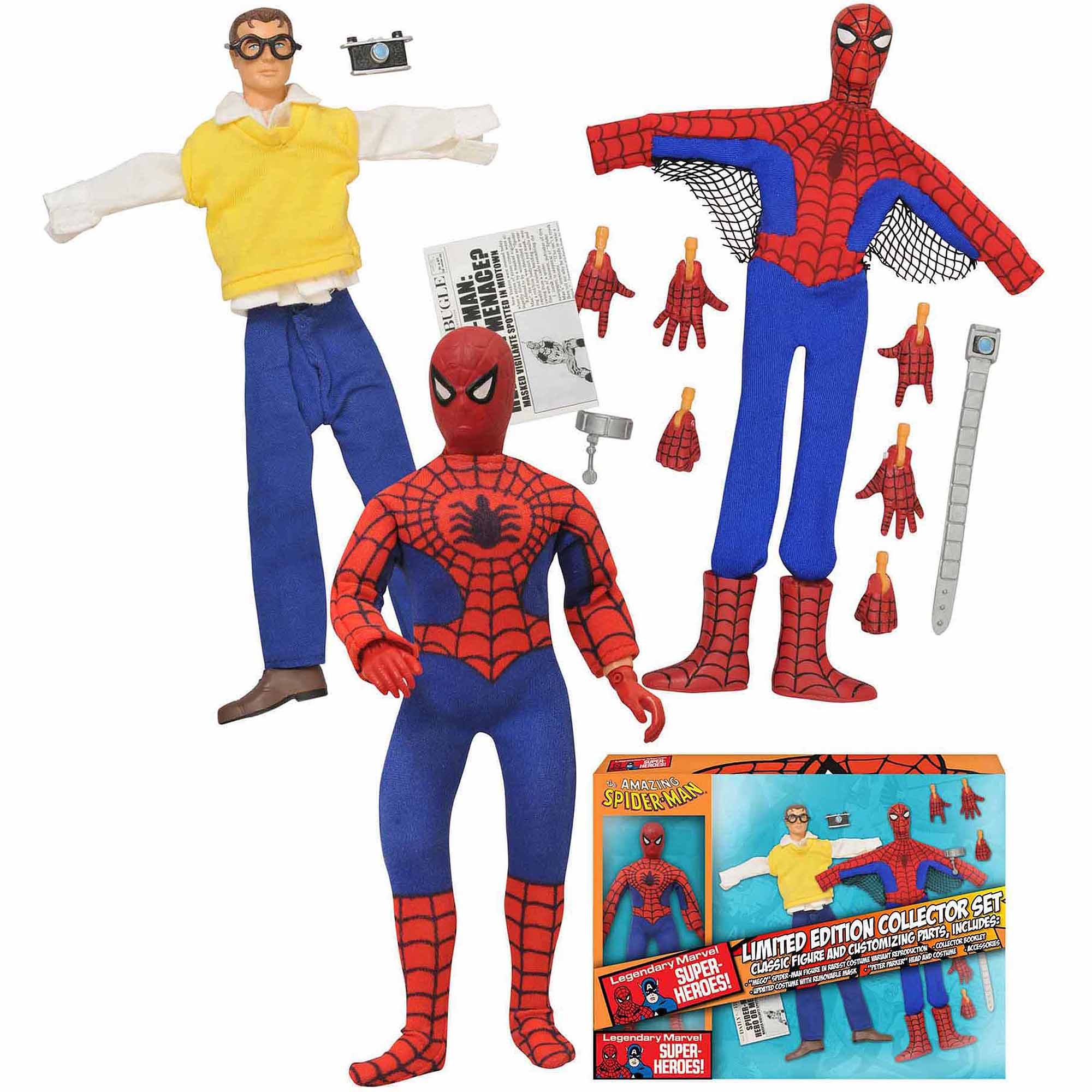 "Diamond Select Toys Marvel Limited Edition Spider-Man 8"" Retro Action Figure Set"