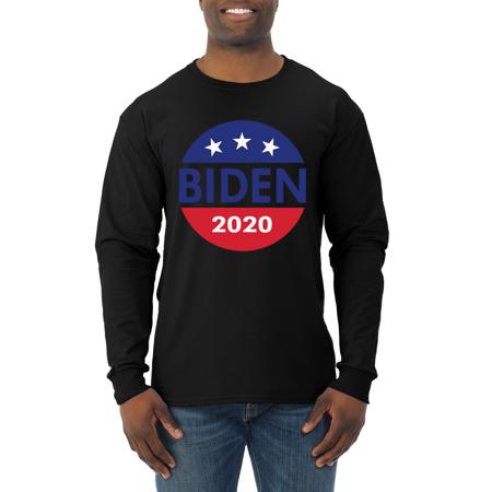 Vote Joe Biden 2020 for President Logo Political Mens Long Sleeve Shirt