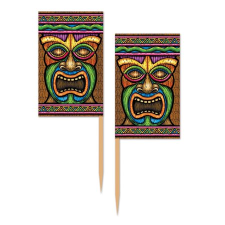 Club Pack of 600 Tiki Food Decorations Party Picks 2.5