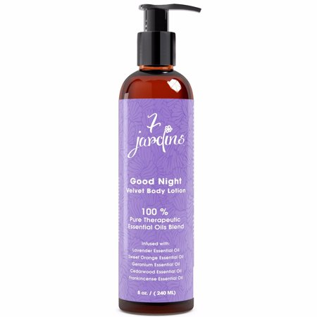7 Jardins Good Night Velvet Body Lotion w/ Top5 Therapeutic Grade Essential Oils