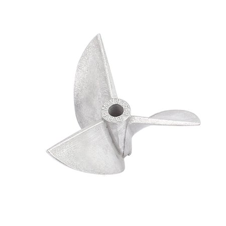 35mm x 15mm Nylon 3-Vane Rotating RC Boat Prop Propeller Black 3mm Hole Left - image 2 de 2