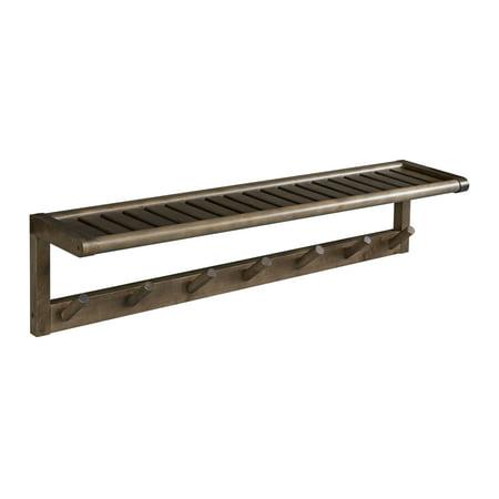 Rack Tom Birch Shell - Abingdon Solid Birch Wood Large Peg Rack with Shelf