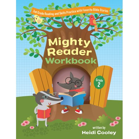 Mighty Reader Workbook, Grade 2 : 2nd Grade Reading and Skills Practice with Favorite Bible