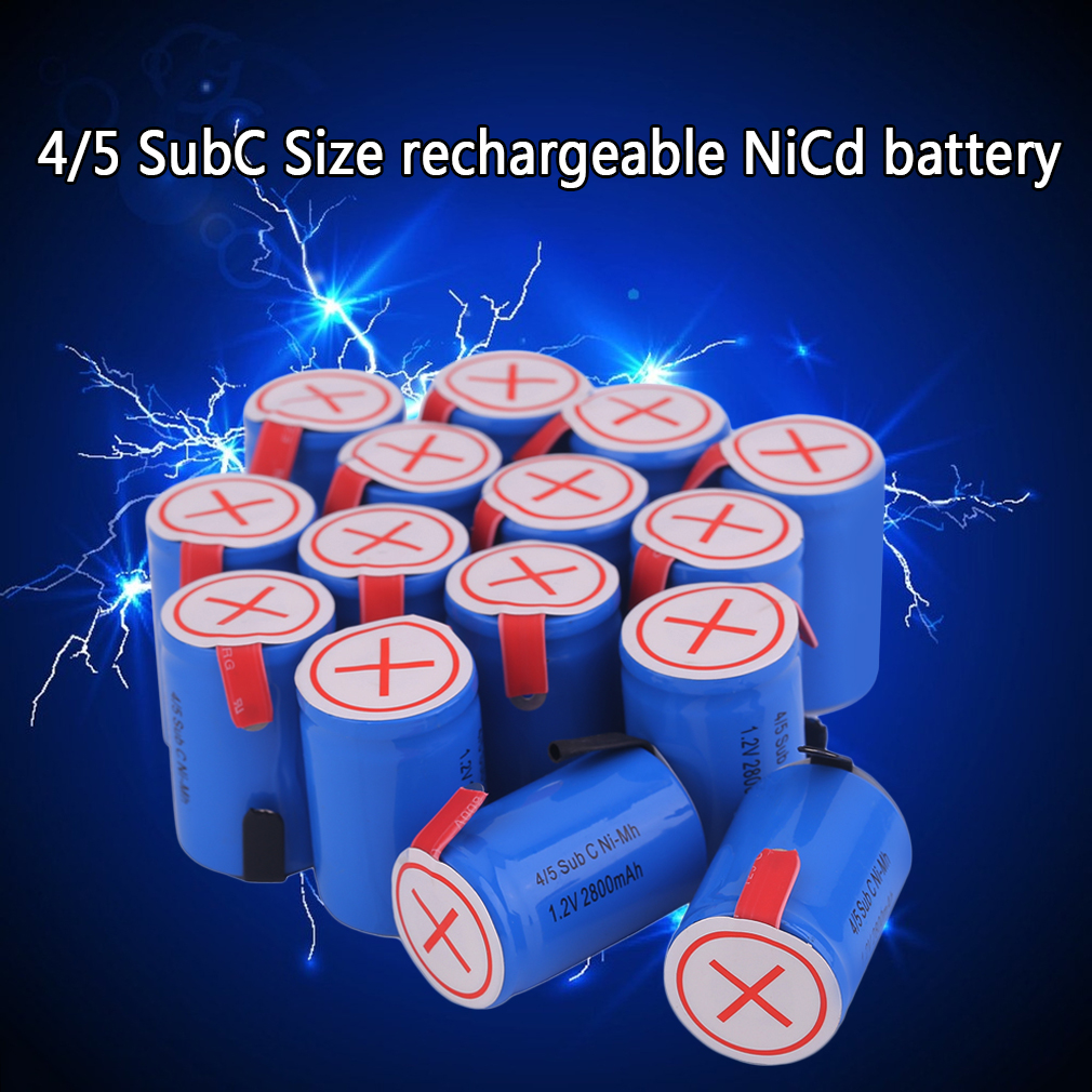 OUTAD Reable Battery 4/5 SubC 1.2V 2800MAH Reable Battery Eco-Friendly Replacement Battery For Emergency Light Power Tool