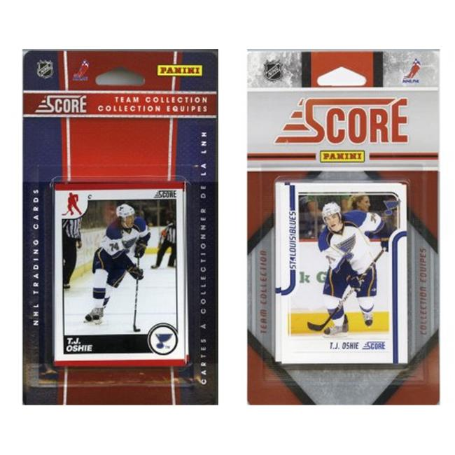 C & I Collectables BLUES2TS NHL St.  Louis Blues Licensed Score 2 Team Sets