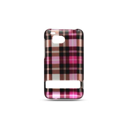 Dream Wireless CAHTCINCHDHPCK HTC Thunderbolt, Incredible HD & 6400 Crystal Case - Hot Pink Checker