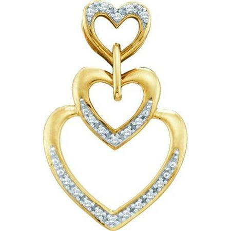 Gold and Diamonds PH2408 0.06CT-DIA HEART PENDANT- Size 7