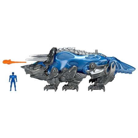 Movie Triceratops Battle Zord with Blue Ranger Figure Triceratpos Battle Zord..., By Power Rangers Ship from - Jungle Fury Blue Ranger