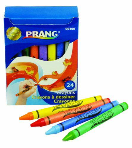 Dixon Prang 24 Count Wax Crayons - Assorted Wax - Assorted Barrel - 24 / Box (00400)