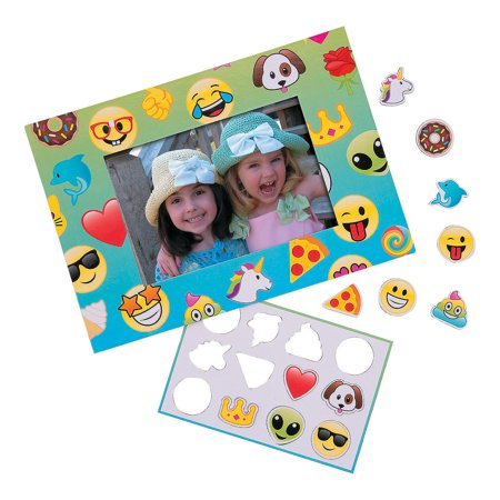 Fun Express - Emoji Magnetic Picture Frame - Stationery - Office Supplies - Magnets - 12 Pieces](Fun Frames)