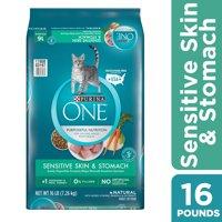 [Multiple Sizes] Purina ONE Sensitive Stomach, Sensitive Skin, Natural Dry Cat Food, Sensitive Skin & Stomach Formula