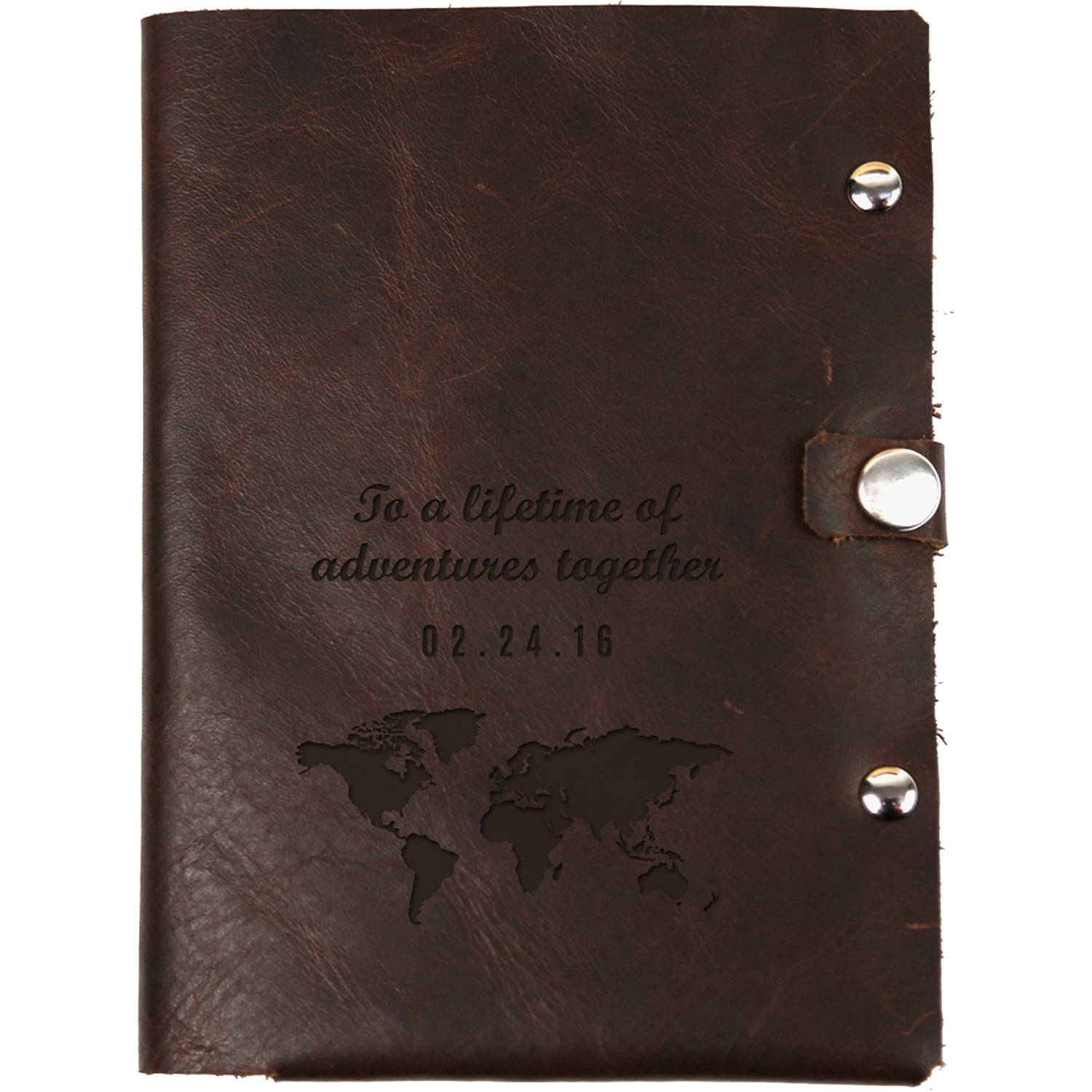 "Lifetime Adventure Custom Genuine Leather Passport Holder 5.25"" x 4"""