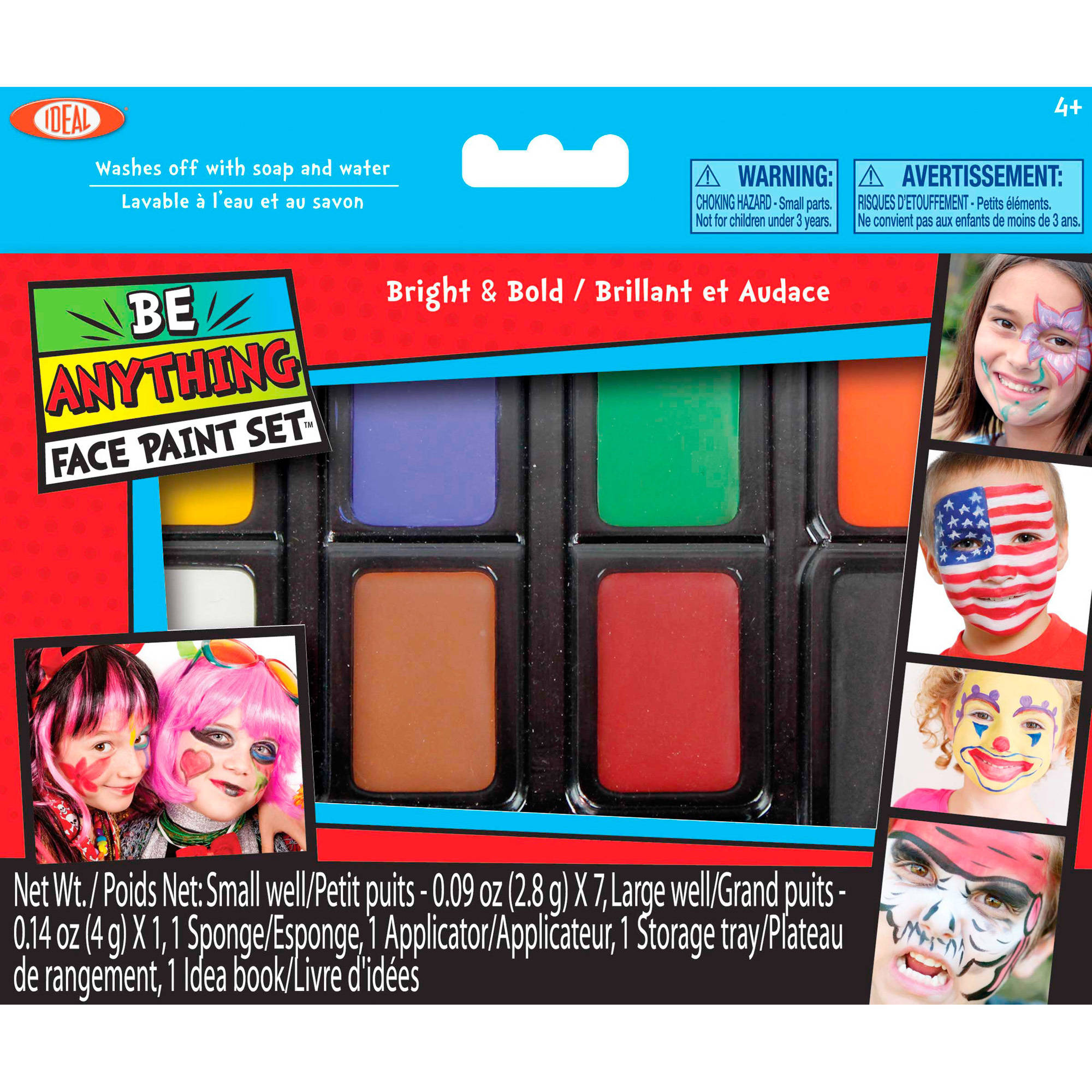 POOF-Slinky Ideal Be Anything! Bright and Bold Face Painting Kit, 8-Color Set