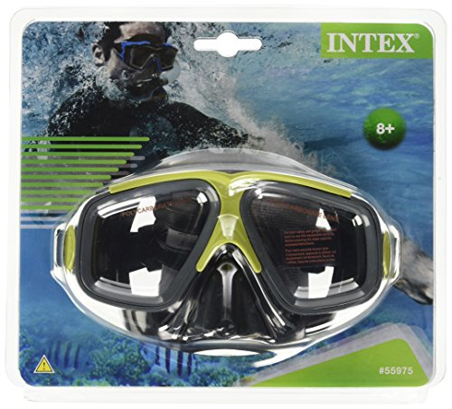 Intex Surf Rider Mask Reef Snorkel Swim Face Mask Goggle (Red) by Intex Recreation Corportation