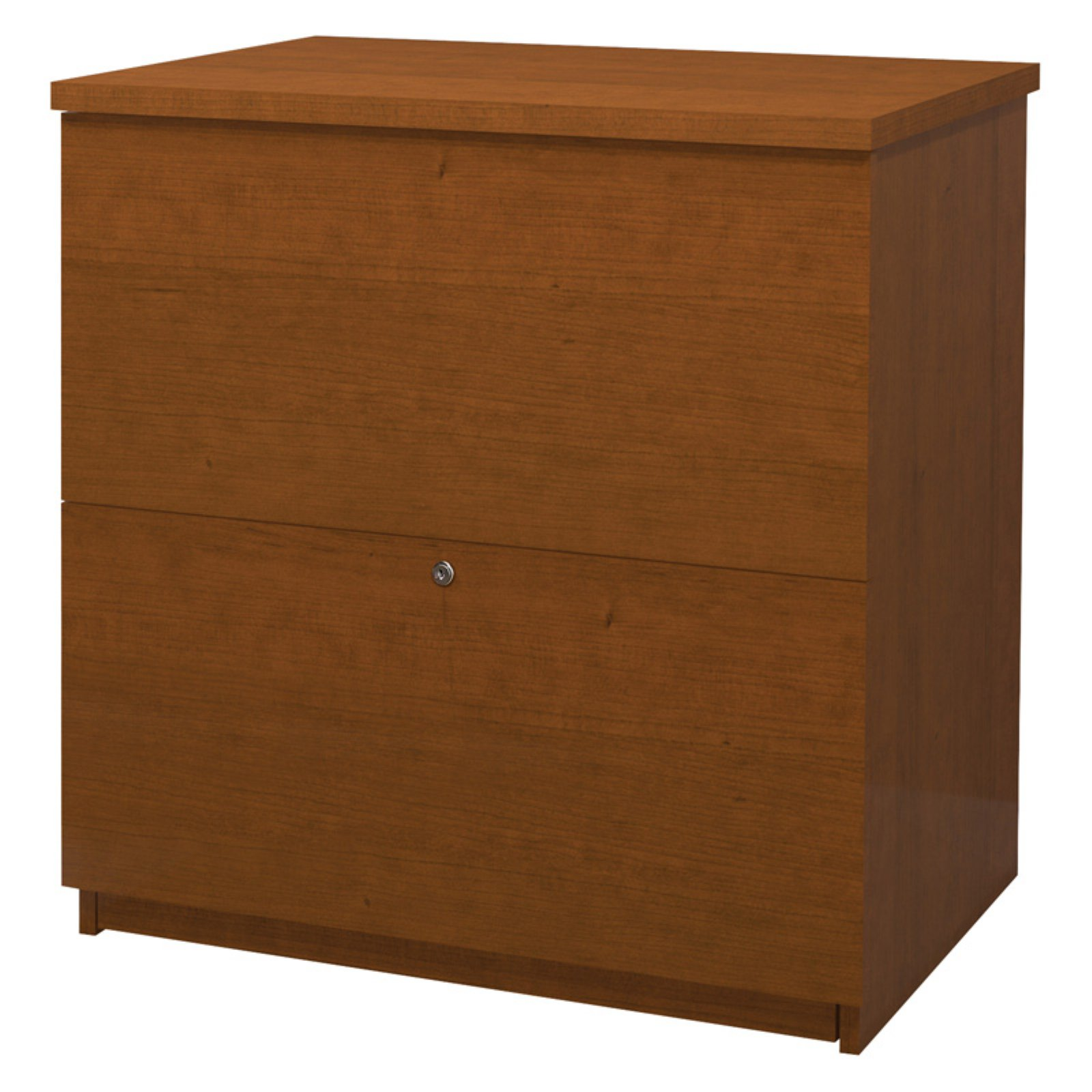 Bestar 2 Drawer Lateral Wood Lockable Filing Cabinet, Walnut by Bestar