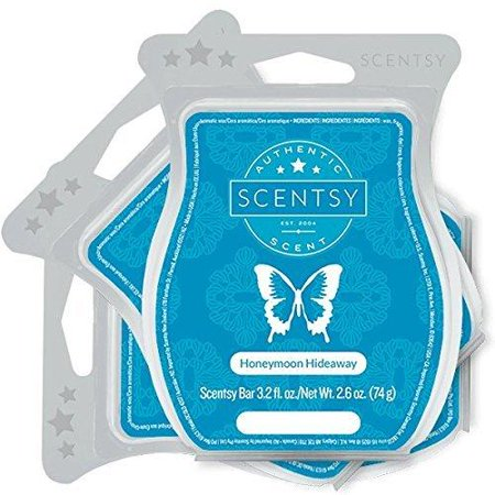 Scentsy, Honeymoon Hideaway, Wickless Candle Tart Warmer Wax 3.2 Oz Bar, 3-pack