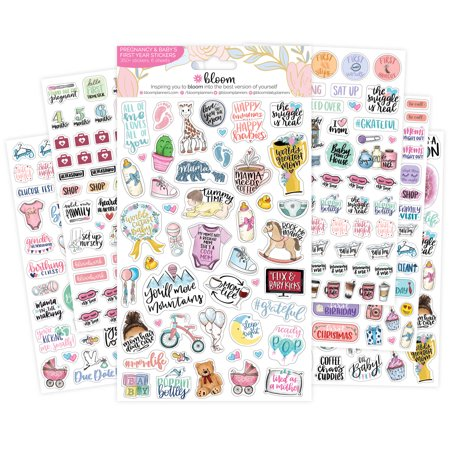 Franklin Blooms Daily Refills - Planner Sticker Sheets, Pregnancy Pack - bloom daily planners