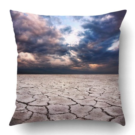 RYLABLUE Drought Earth And Storm Dramatic Sky At Pillowcase Pillow Cushion Cover 16x16 inch - image 1 de 1