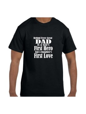 69b49832 Product Image Funny Humor Tshirt Father's Day Dad First Hero First Love