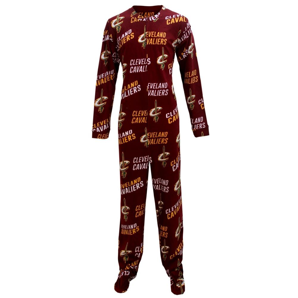 Concept Sports Cleveland Cavaliers Wildcard Union Suit Footed Pajamas
