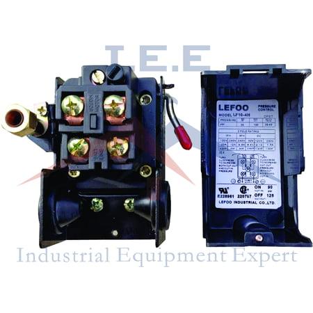 Lefoo Air Compressor Pressure Switch Control Valve 140-175PSI w/Unloader 4 - Adjust Pressure Switch