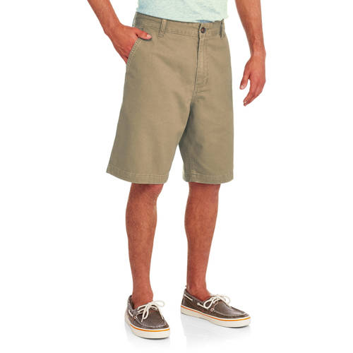 Faded Glory Men's Flat Front Twill Shorts by CLASSIC FASHION