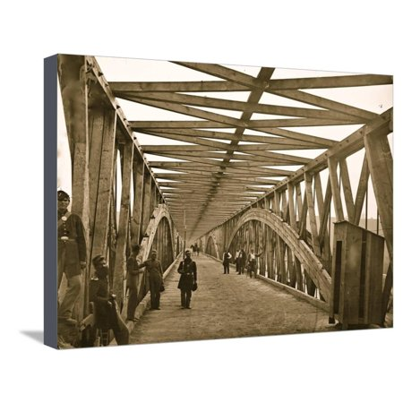 Washington, D.C. View across Chain Bridge over the Potomac Stretched Canvas Print Wall Art