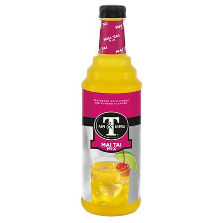 (2 Bottles) Mr & Mrs T Mai Tai Mix, 1 L