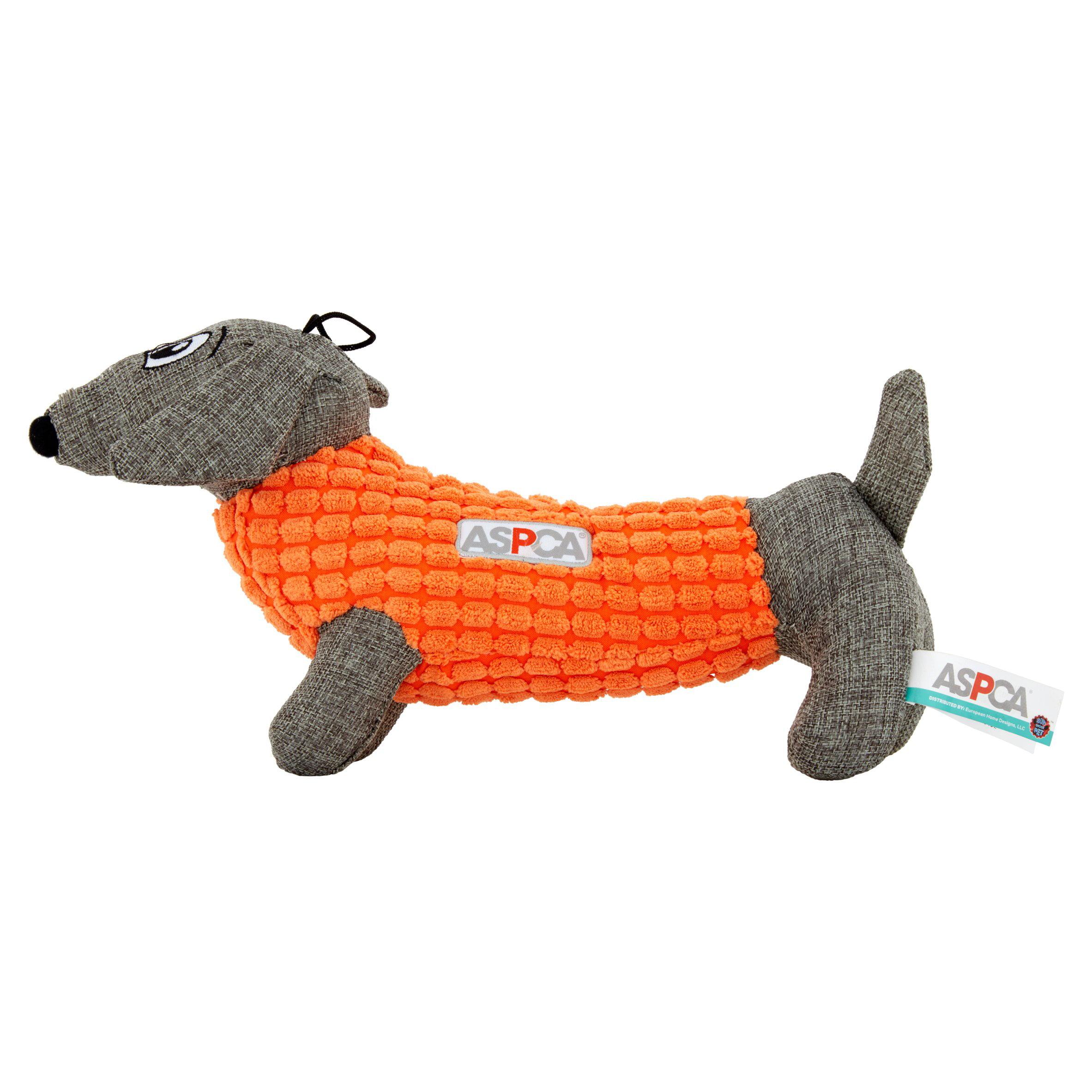 ASPCA Blue Burlap & Pixel Dachshund Dog Toy by European Home Designs, LLC
