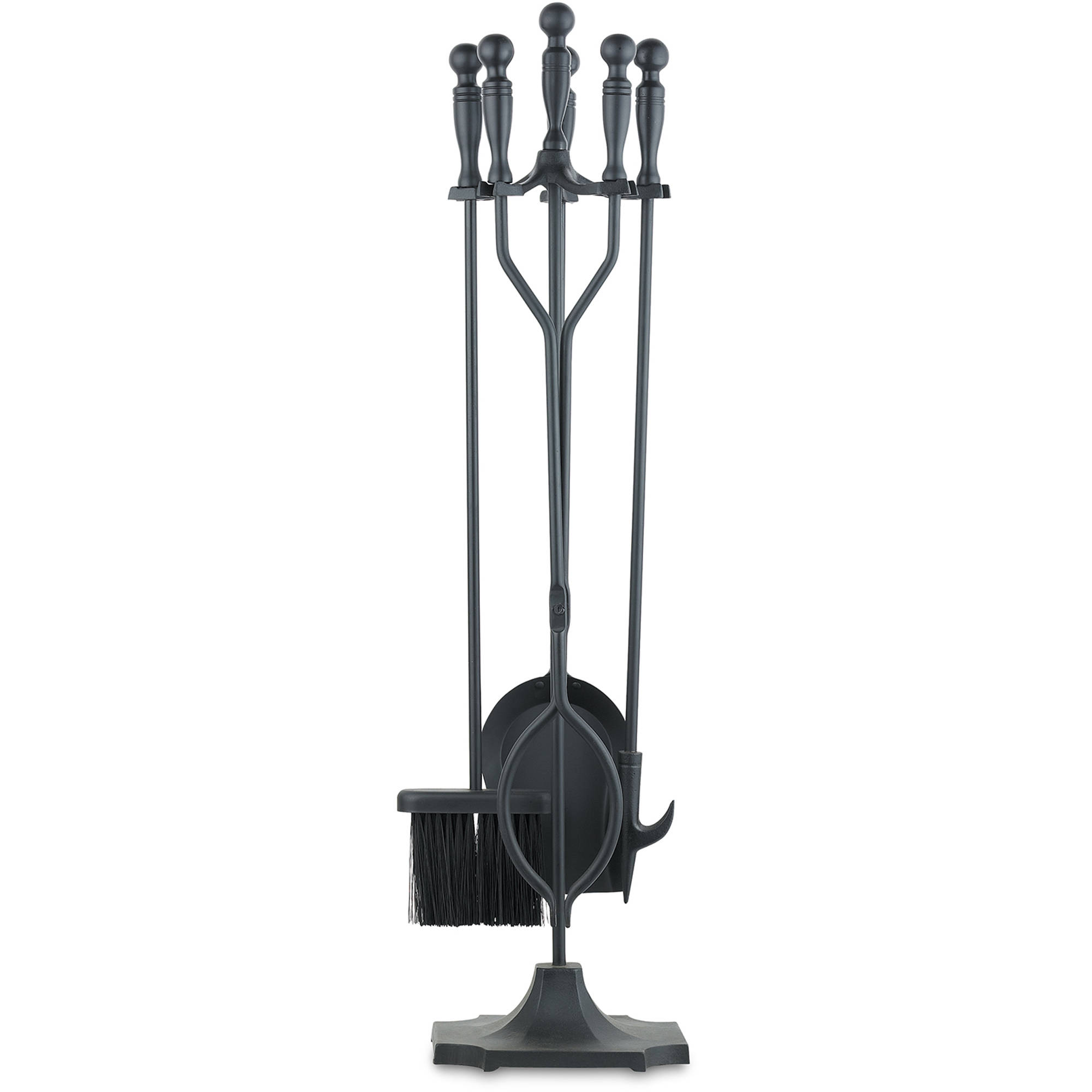 UniFlame 5 Piece Fireplace Toolset Black Walmartcom