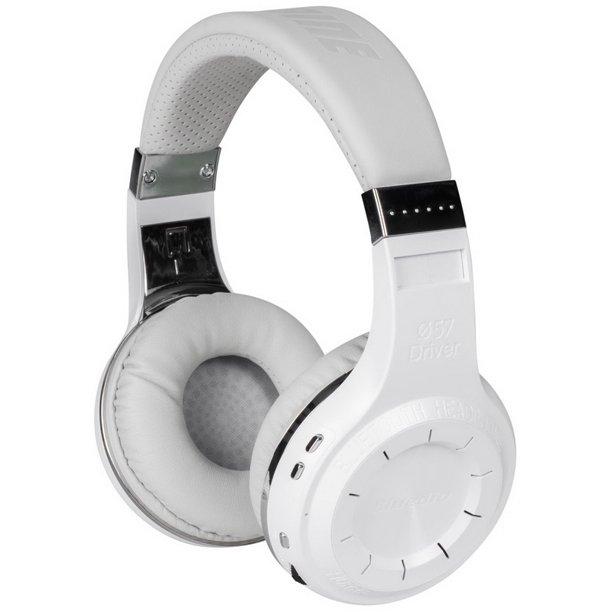 Bluedio H Hurricane Turbine Bluetooth 4 1 Headphones With Built In Microphone White Walmart Com Walmart Com