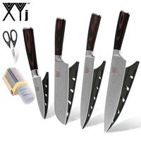 XYJ Quality Stainless Steel Kitchen Knife And Scissor Yellow Electric Knife Sharpener Cooking Tools Kitchen Knives