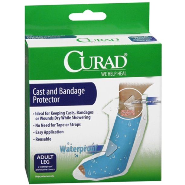 CURAD Cast Leg Protector, Protects Bandages & Wounds, 2 Count
