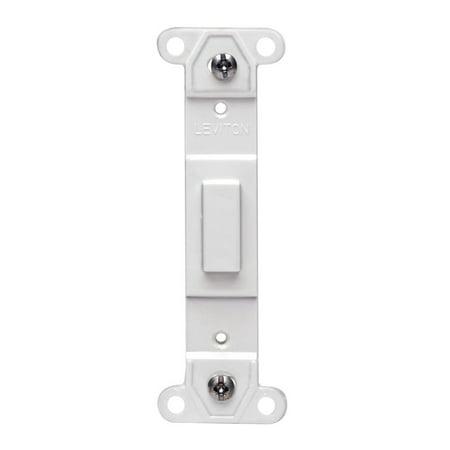 Adapter Platte (Leviton 80700-W Toggle Plastic adapter plate, Blank Toggle No Hole, White )