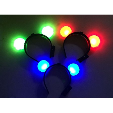 LWS LA Wholesale Store  12 Light-Up Mickey Mouse Ears Flashing Minnie Headbands LED Blinking - Led Rings Wholesale