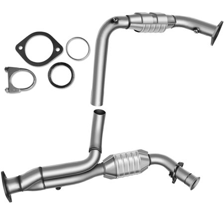 Front Catalytic Converter Exhaust Manifold REPG960301 for Chevy 99-07 GMC Yukon Silverado 1500 2500 Truck Manifold Converters with Heat