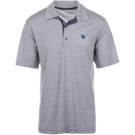 - Men's Heathered Charcoal Dallas Cowboys Denali Striped Polo